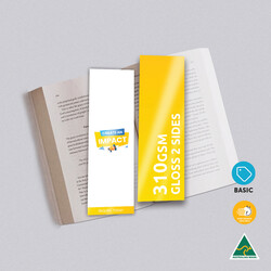 310gsm Artboard Gloss Cello Two Sides Bookmarks