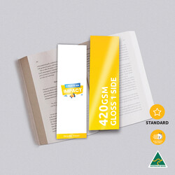 420gsm Artboard Gloss Cello One Side Bookmarks