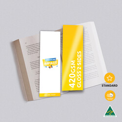 420gsm Artboard Gloss Cello Two Sides Bookmarks