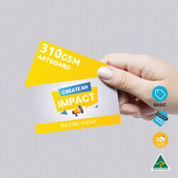 310gsm Artboard Uncoated Business Cards