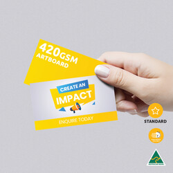 420gsm Artboard Uncoated Business Cards